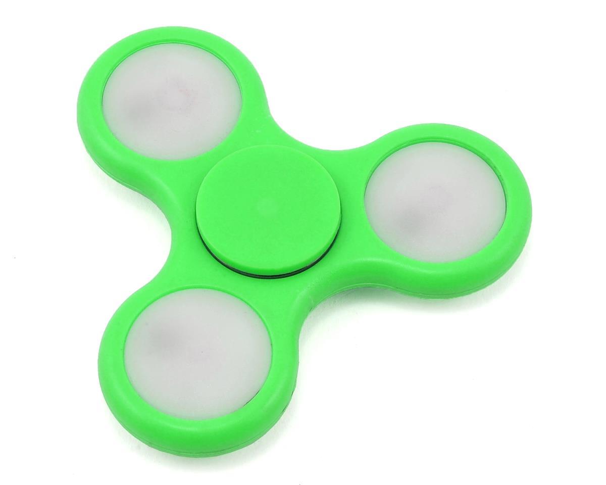 FidgeTek Fidgit Spinner w/LED (Plastic) (Green)