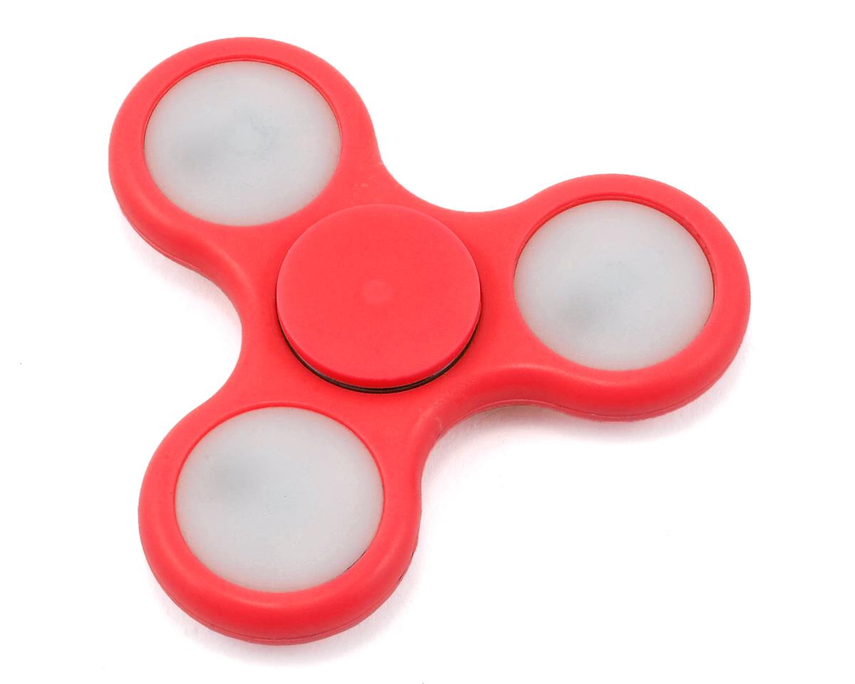 FidgeTek Fidgit Spinner w/LED (Plastic) (Red)