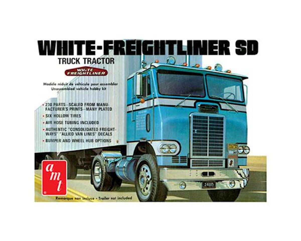 White Freightliner Single Drive Tractor by AMT