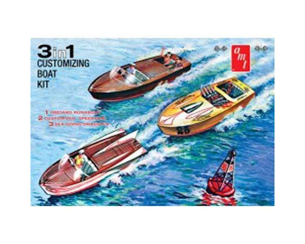 AMT 1/25 Customizing Boat 3-in-1