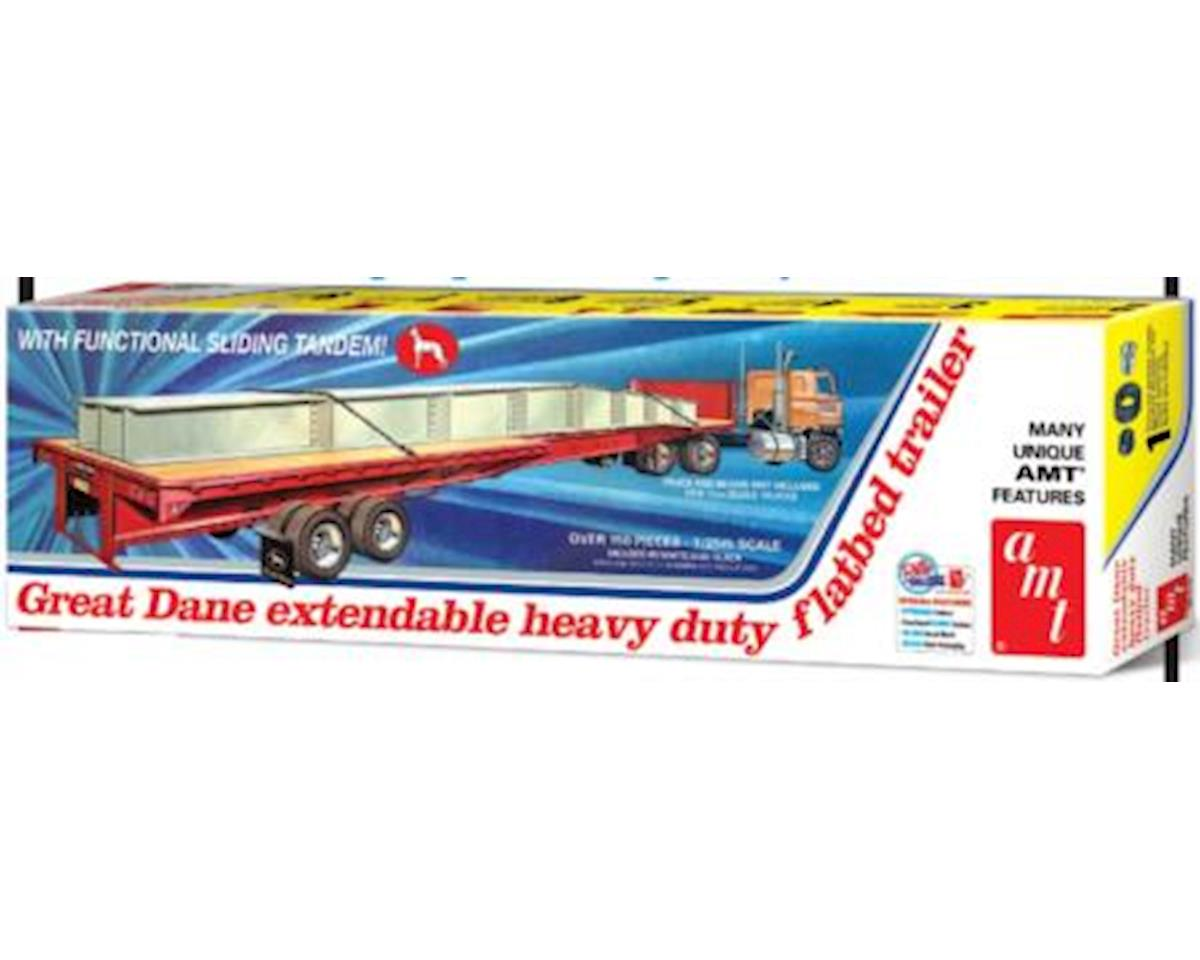 AMT 1/25 Extendable Flatbed Trailer, Great Dane