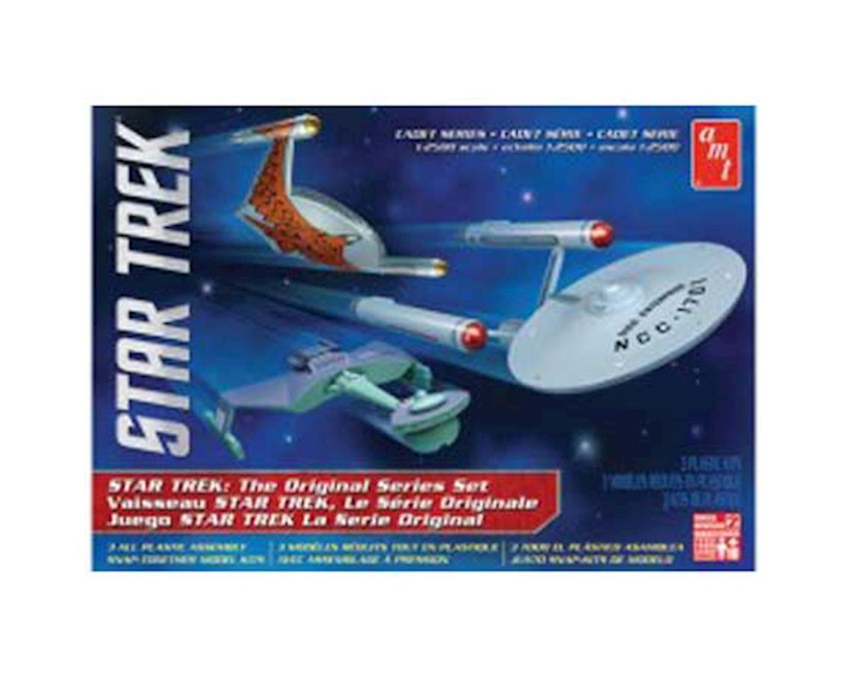 1/2500 Star Trek TOS Era Ship Set, Snap Kit by AMT