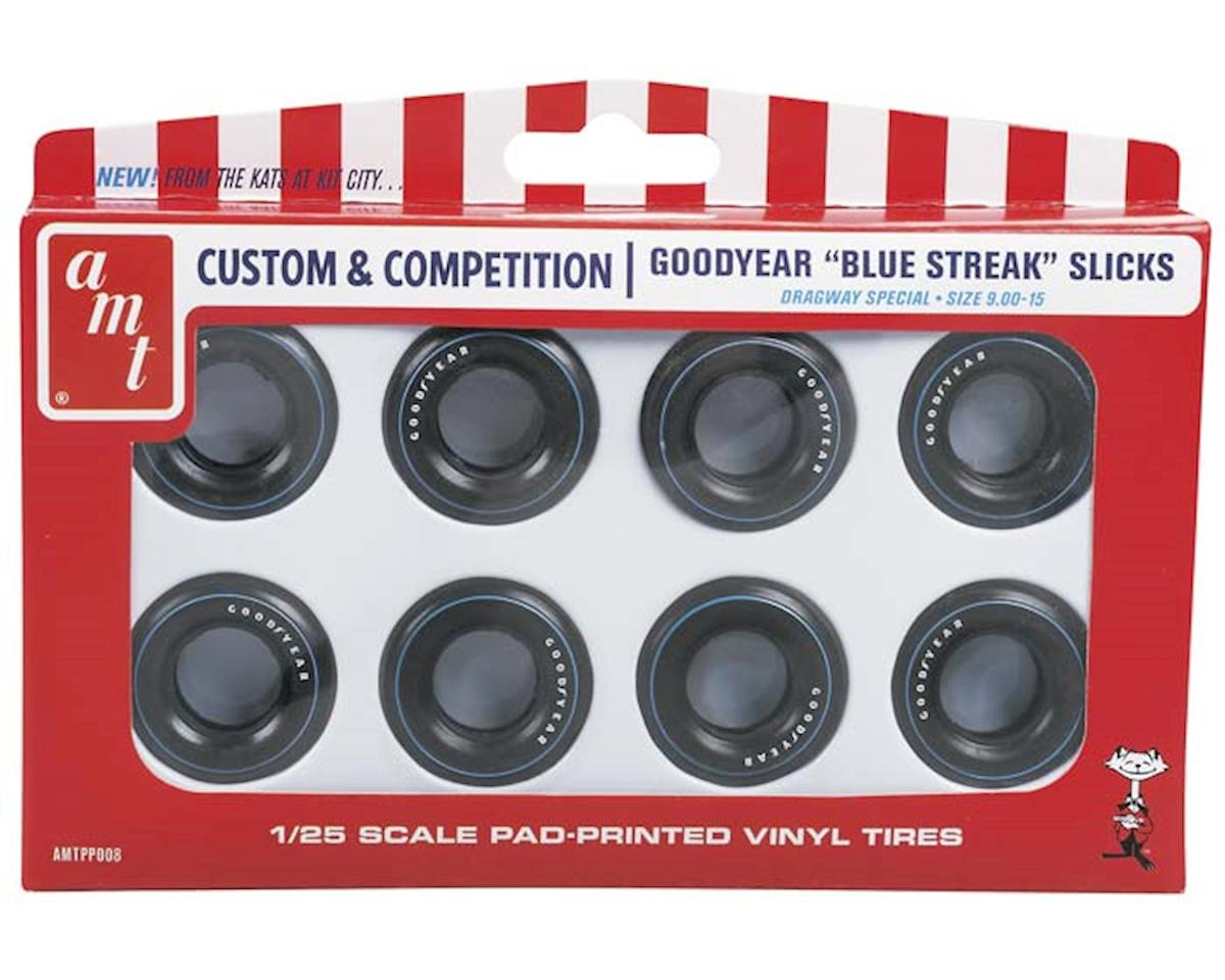 "Amt  1/25 Goodyear ""Blue Streak' Drag Slicks Parts Pack by AMT"
