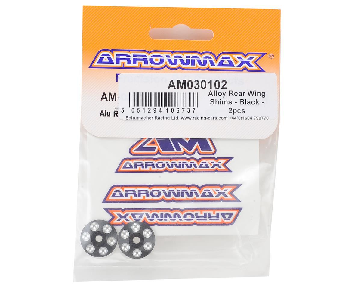 Arrowmax Alloy Rear Wing Shims (2) (Black)