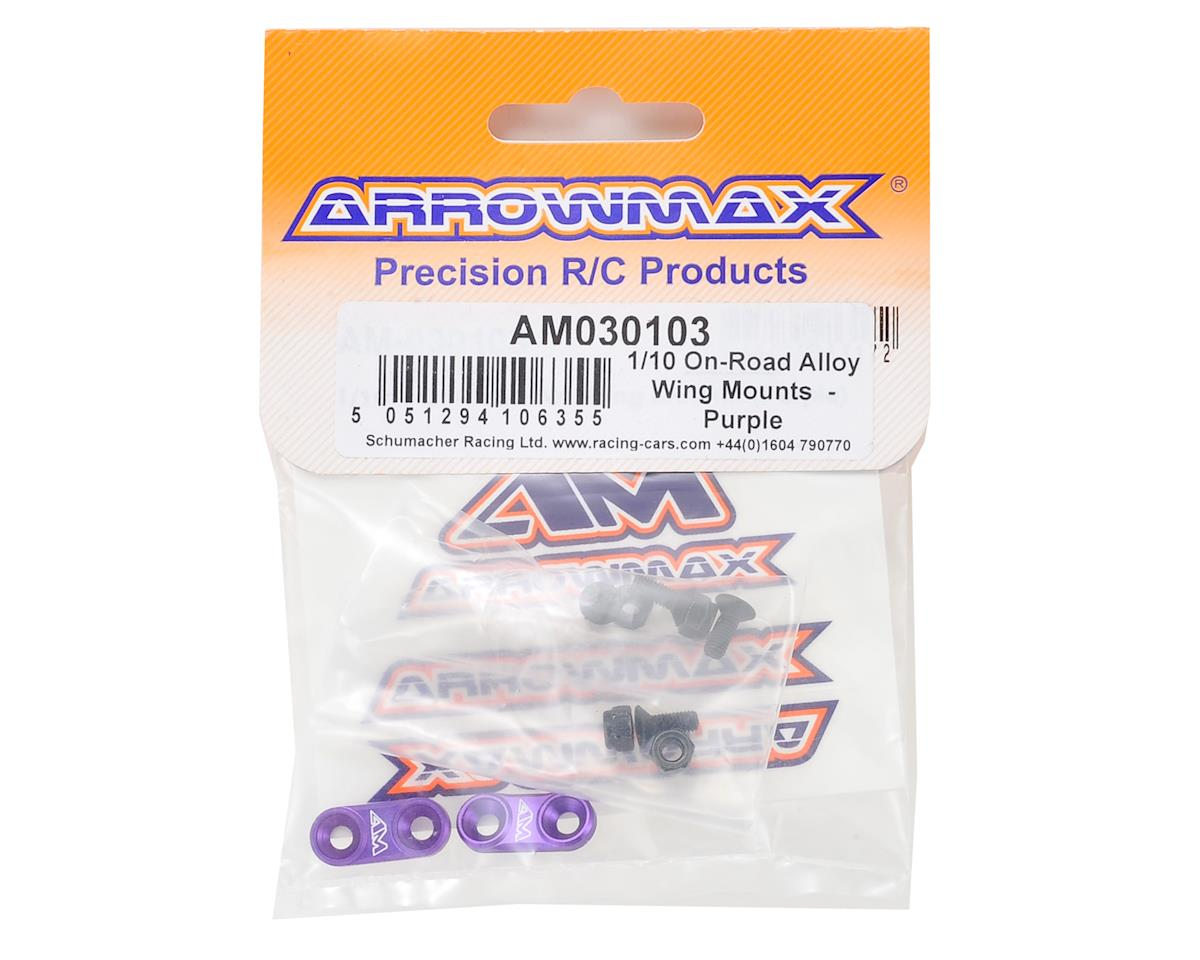 Arrowmax Aluminum 1/10 On-Road Wing Mount (Purple)
