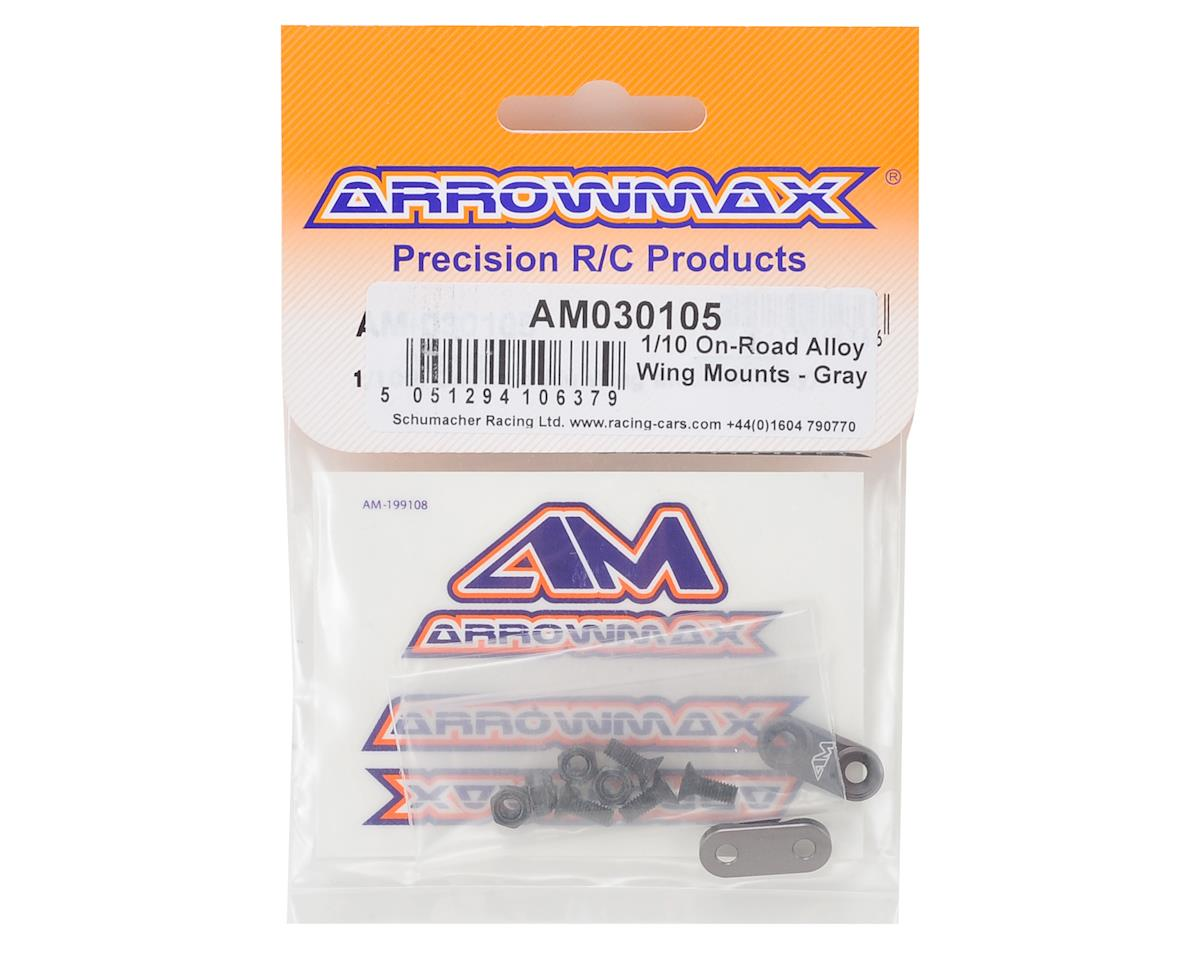 Image 2 for Arrowmax Aluminum 1/10 On-Road Wing Mounts (Grey)