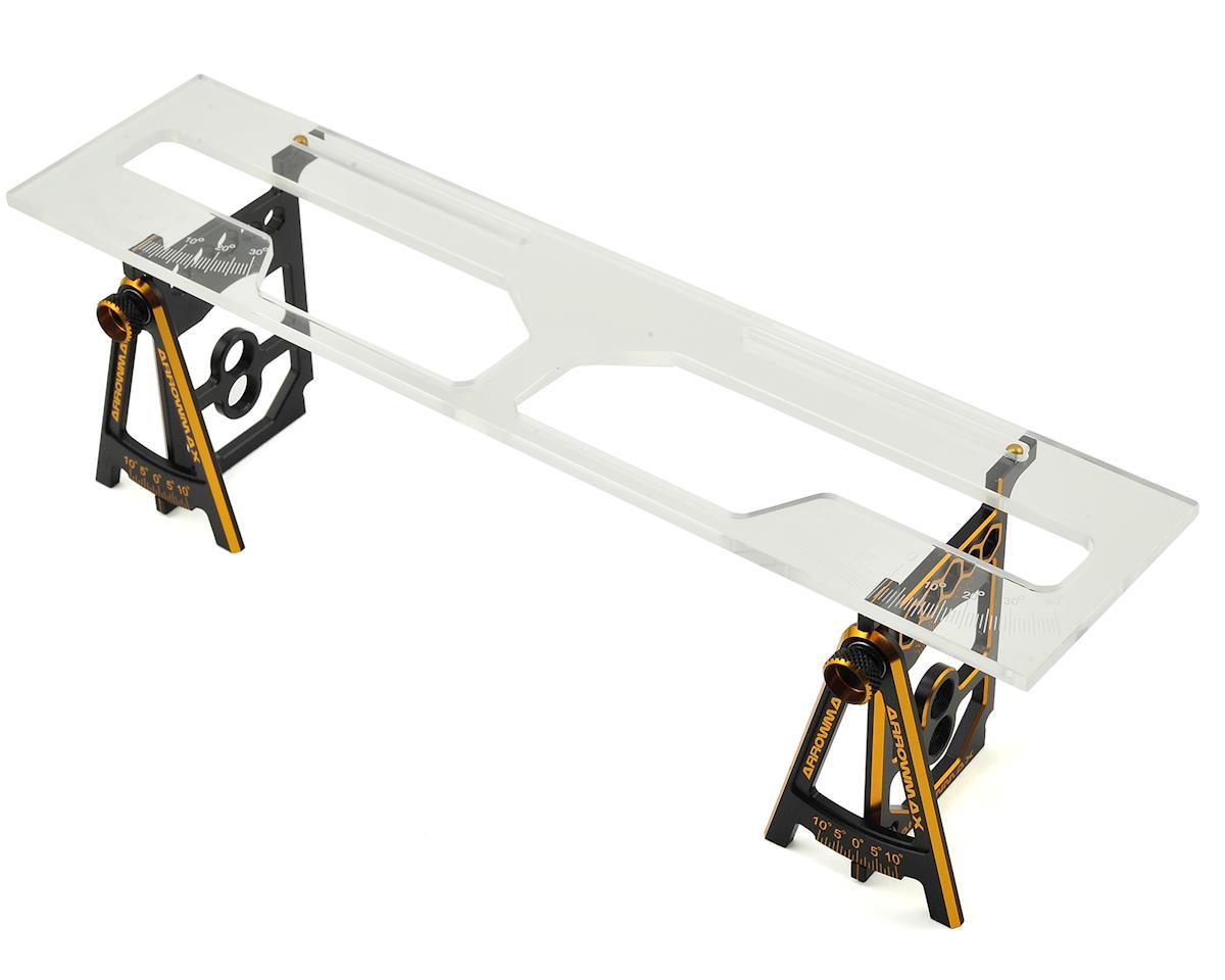 Arrowmax Black Golden 1/10 & 1/12 Pan Car Set-Up System w/Bag