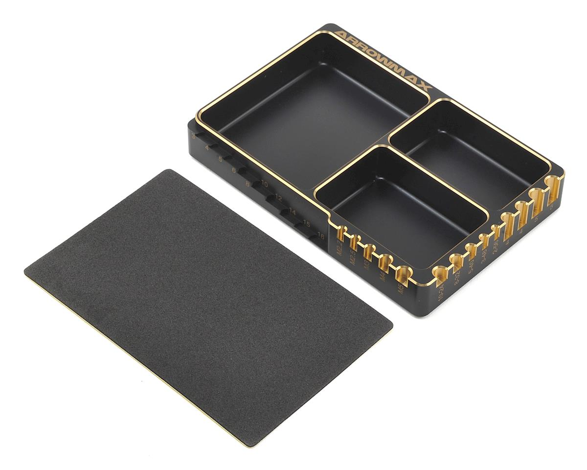 Arrowmax Aluminum Black Golden Parts Tray
