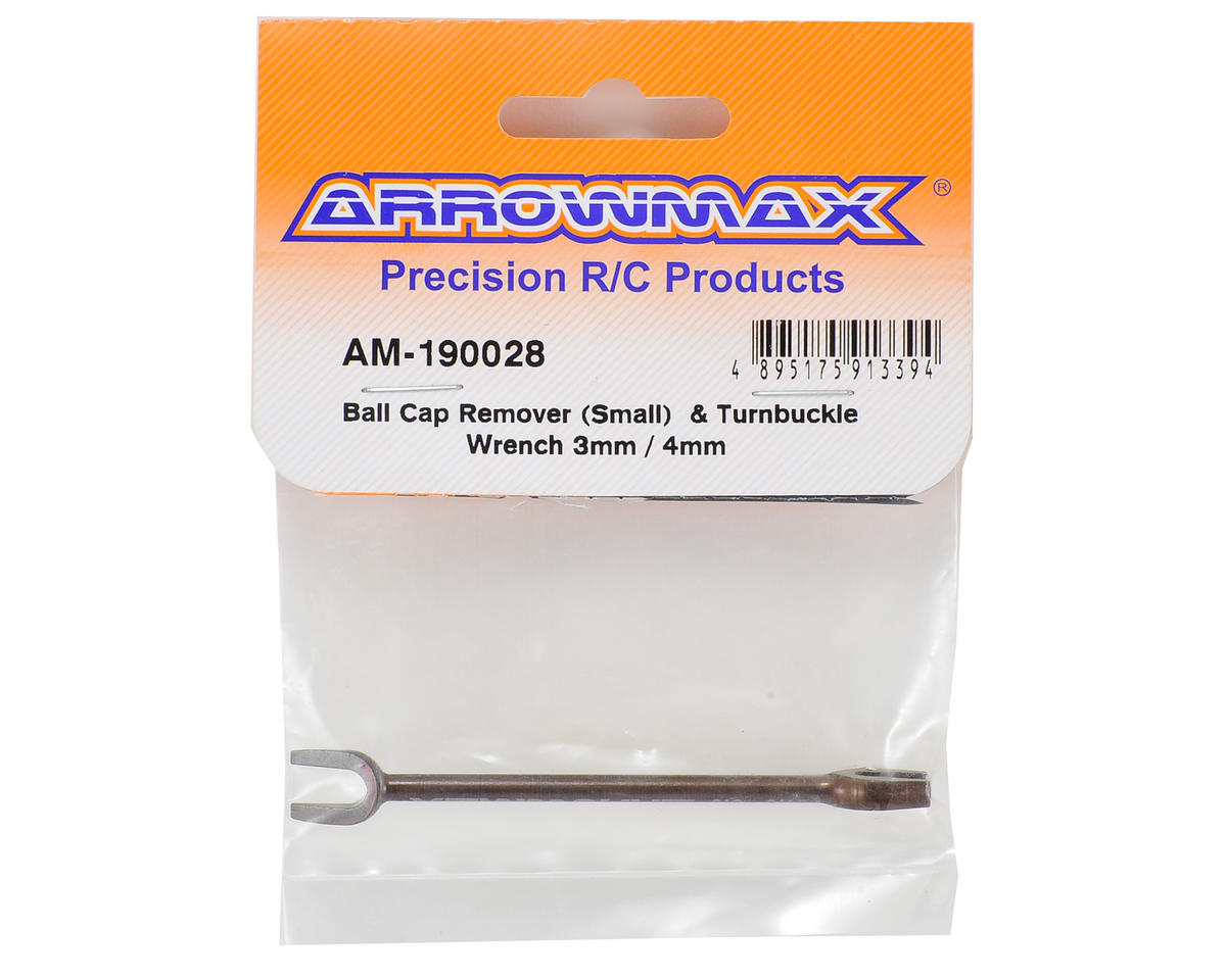 Small Ball Cap Remover & Turnbuckle Wrench (3mm/4mm) by Arrowmax