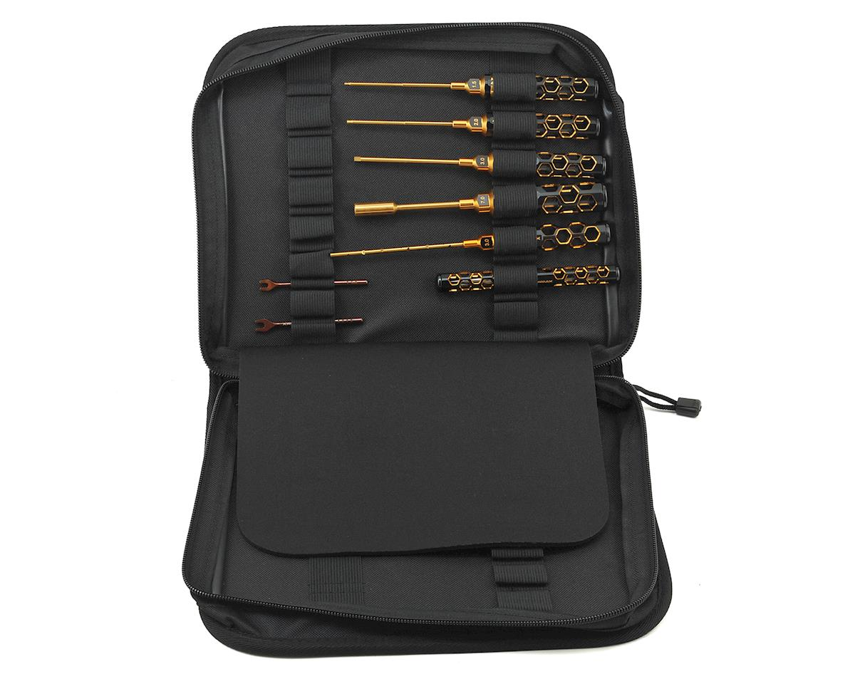 Arrowmax Black Golden 1/10 Electric Touring Car Tool Set w/Tool Bag (8)