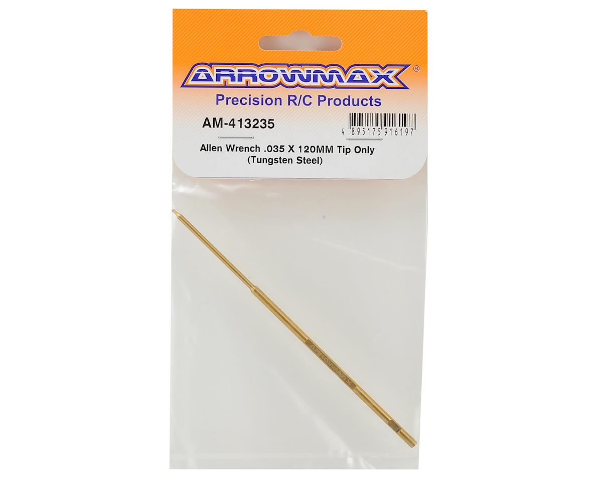 Tungsten Steel Replacement Hex Wrench Tip (.035x120mm) by Arrowmax