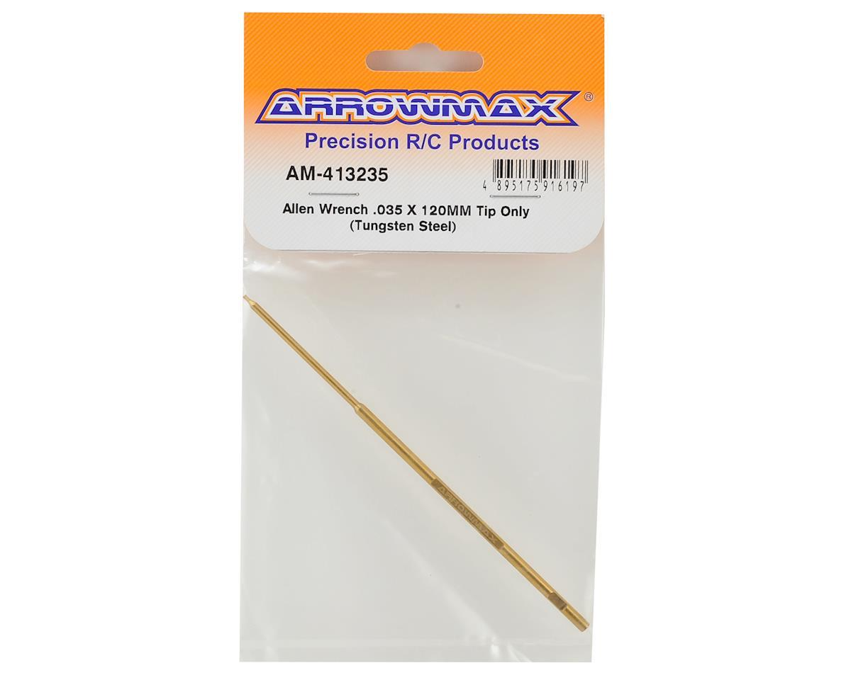 Arrowmax Tungsten Steel Replacement Hex Wrench Tip (.035x120mm)