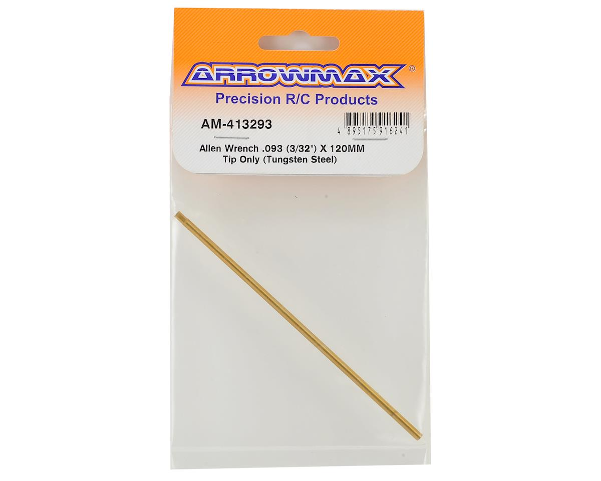 Arrowmax Tungsten Steel Replacement Hex Wrench Tip (3/32 x 120mm)