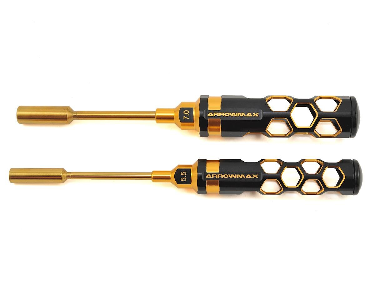 Black Golden Nut Driver Set (5.5 & 7.0mm) by Arrowmax