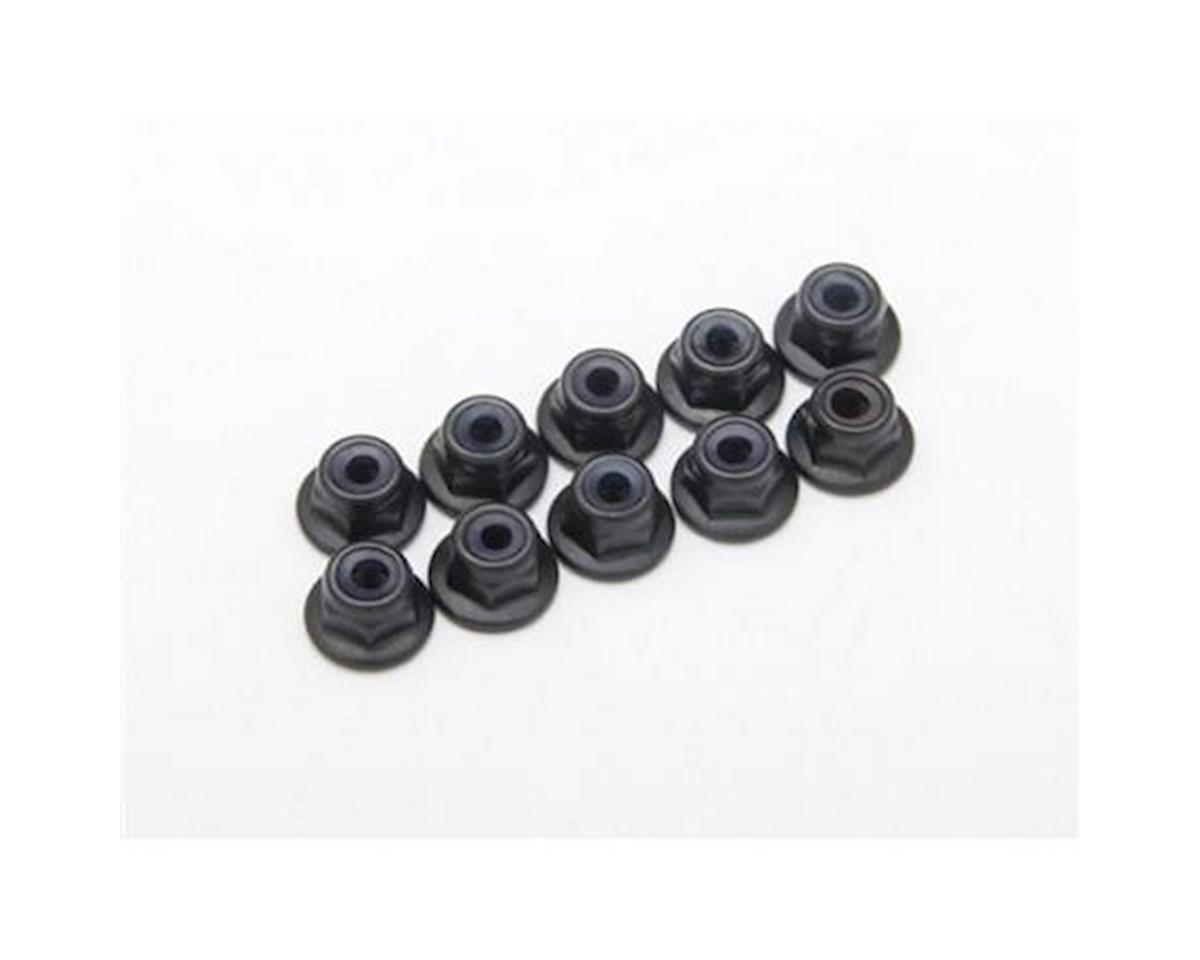 Locknuts, M3, Flanged, Black
