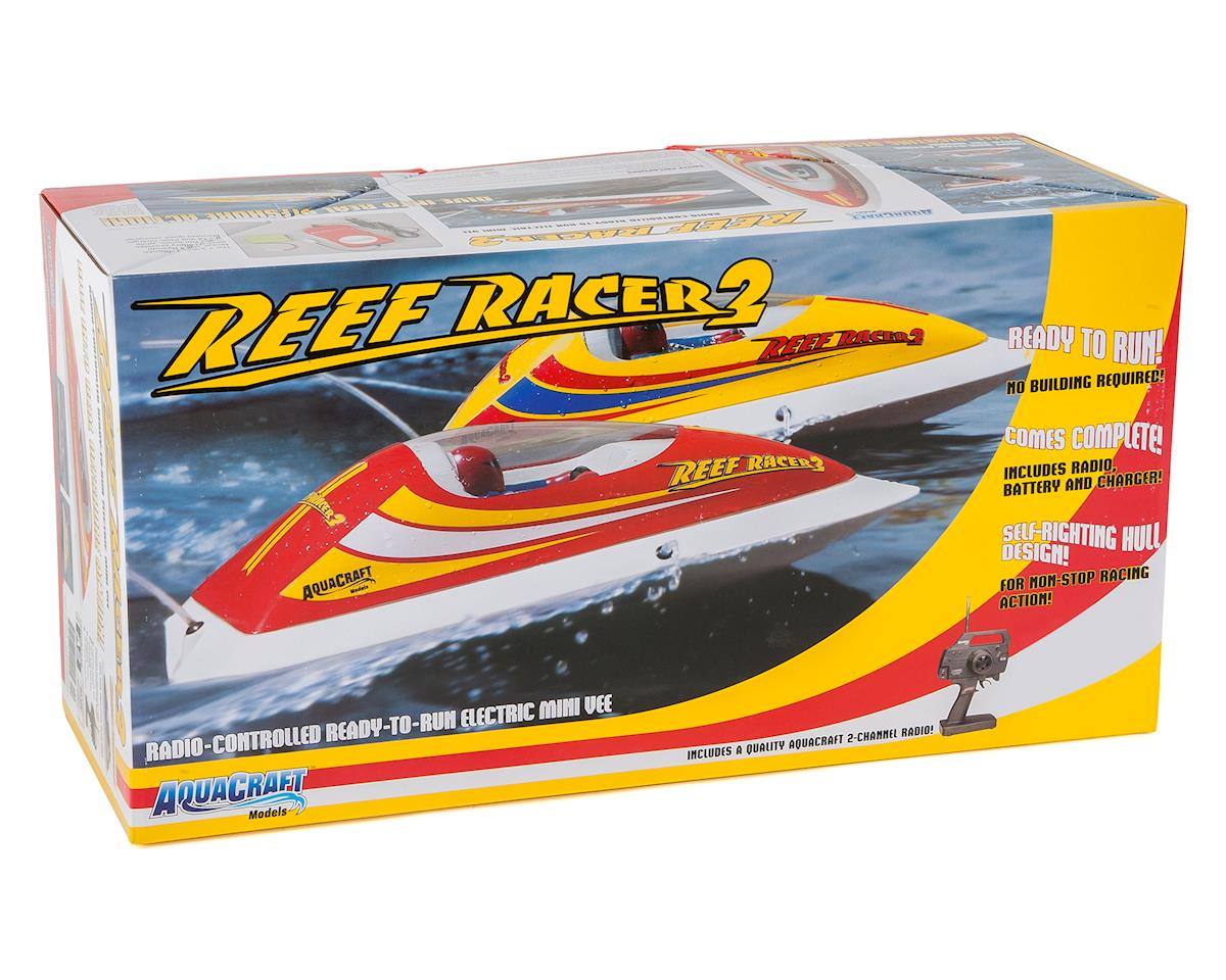 AquaCraft Reef Racer 2 Electric Vee-Hull Boat RTR (Red)