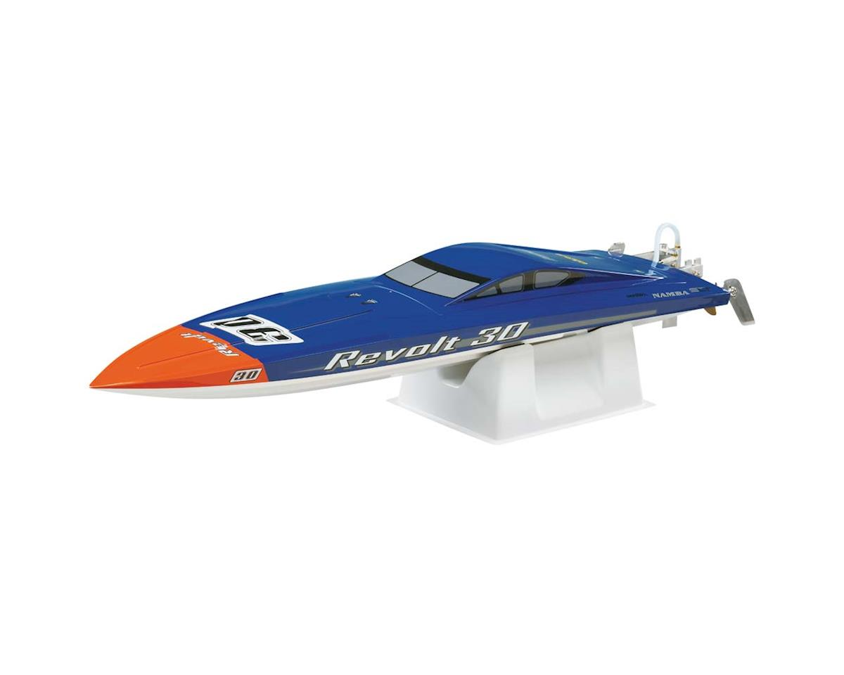 Revolt 30 Brushless RTR FE Deep Vee Boat (Blue/White) by AquaCraft