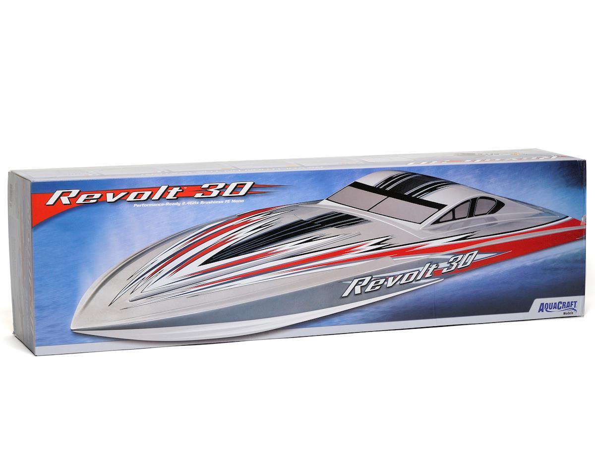 AquaCraft Revolt 30 Brushless FE Deep Vee RTR Boat (Red/White)