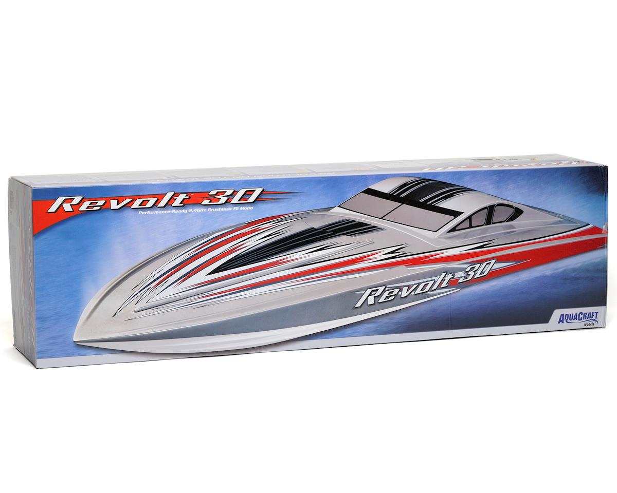 Revolt 30 Brushless FE Deep Vee RTR Boat (Silver/White) by AquaCraft