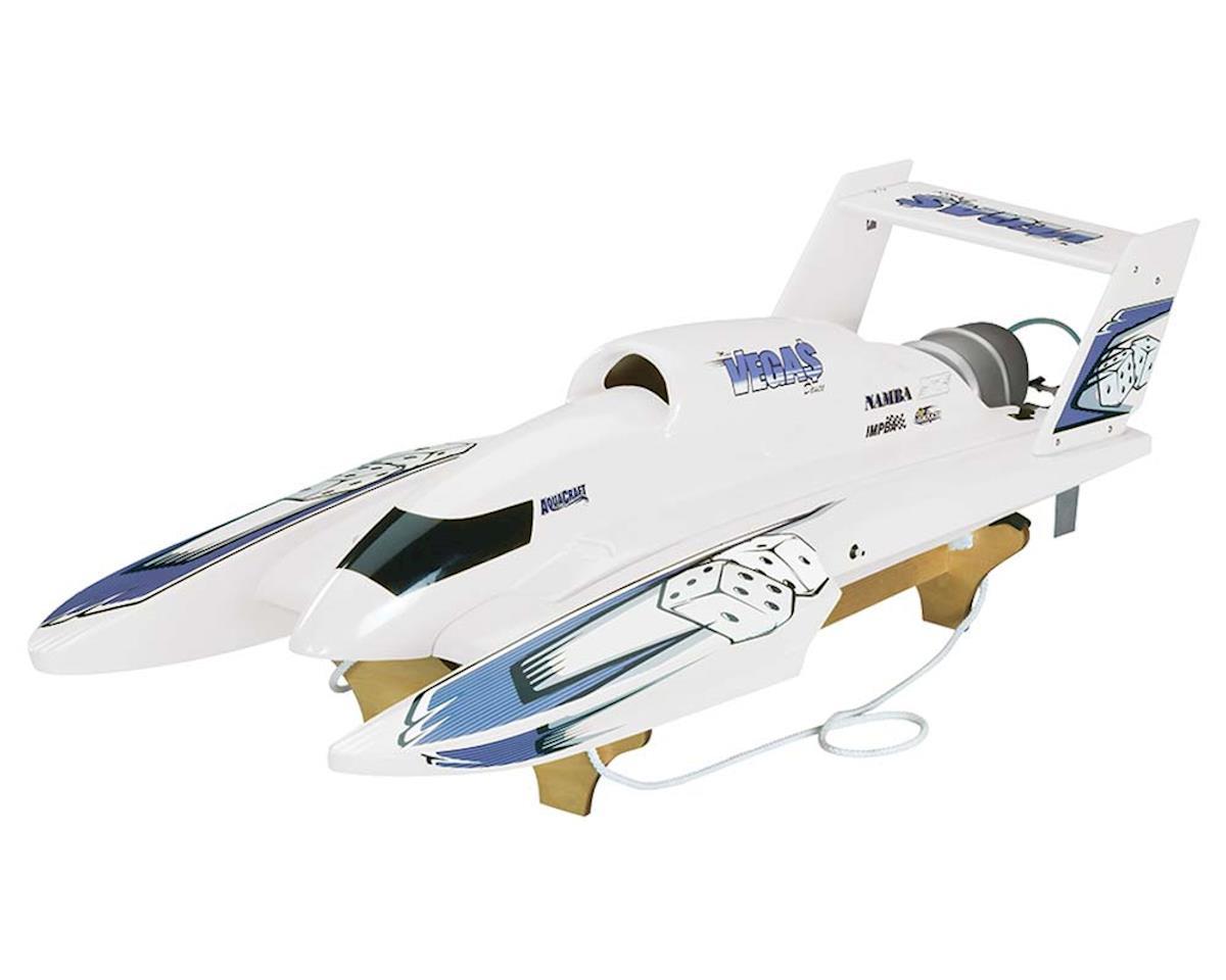 AquaCraft U-18 Miss Vegas Deuce Nitro Hydroplane RTR (White)