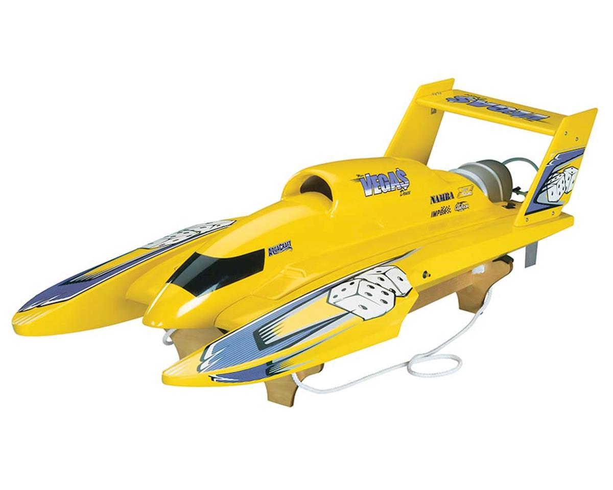 AquaCraft U-18 Miss Vegas Deuce Nitro Hydroplane RTR (Yellow)