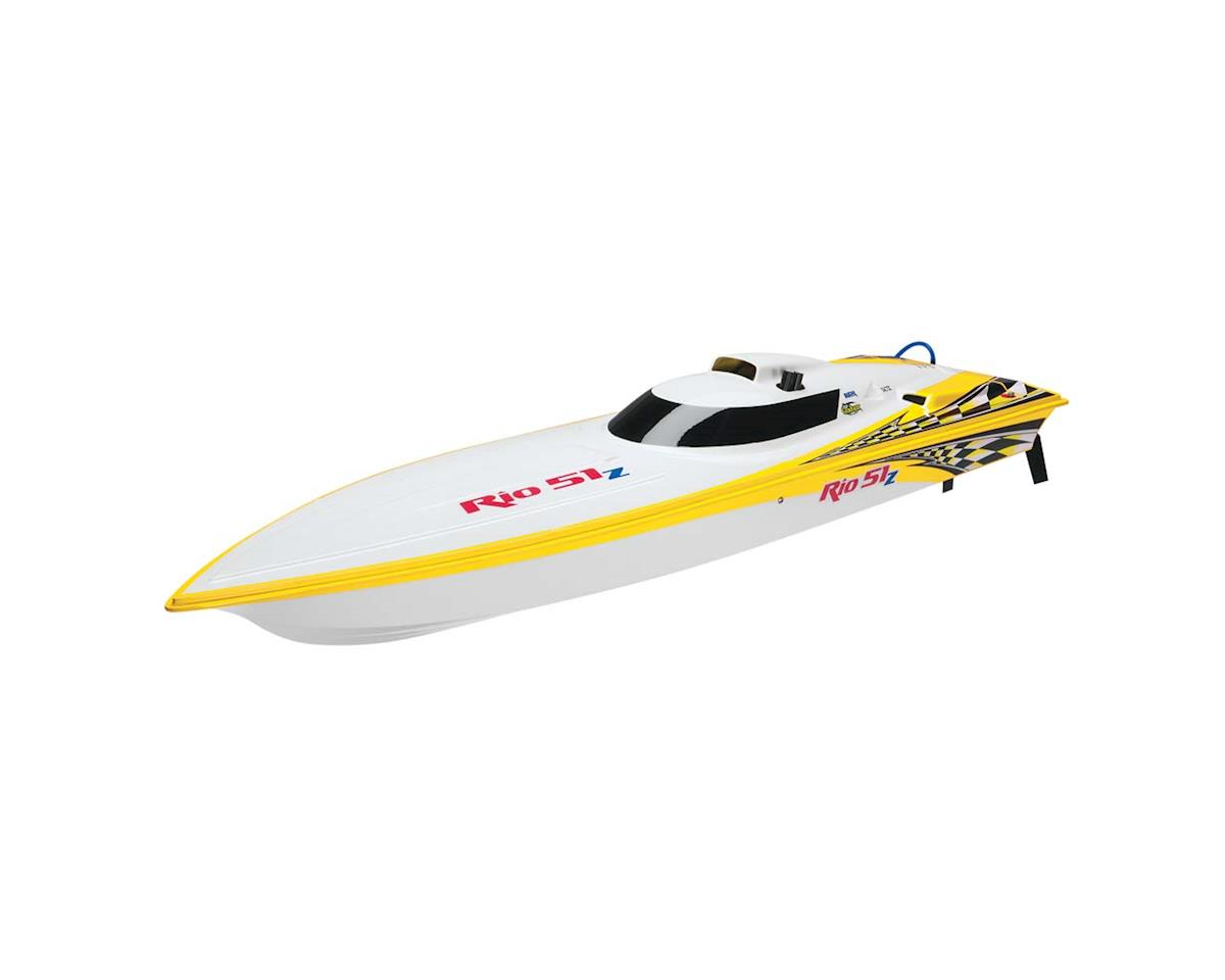 AquaCraft Rio 51Z Offshore Gas TTX300 2.4G w/Zenoah Yellow