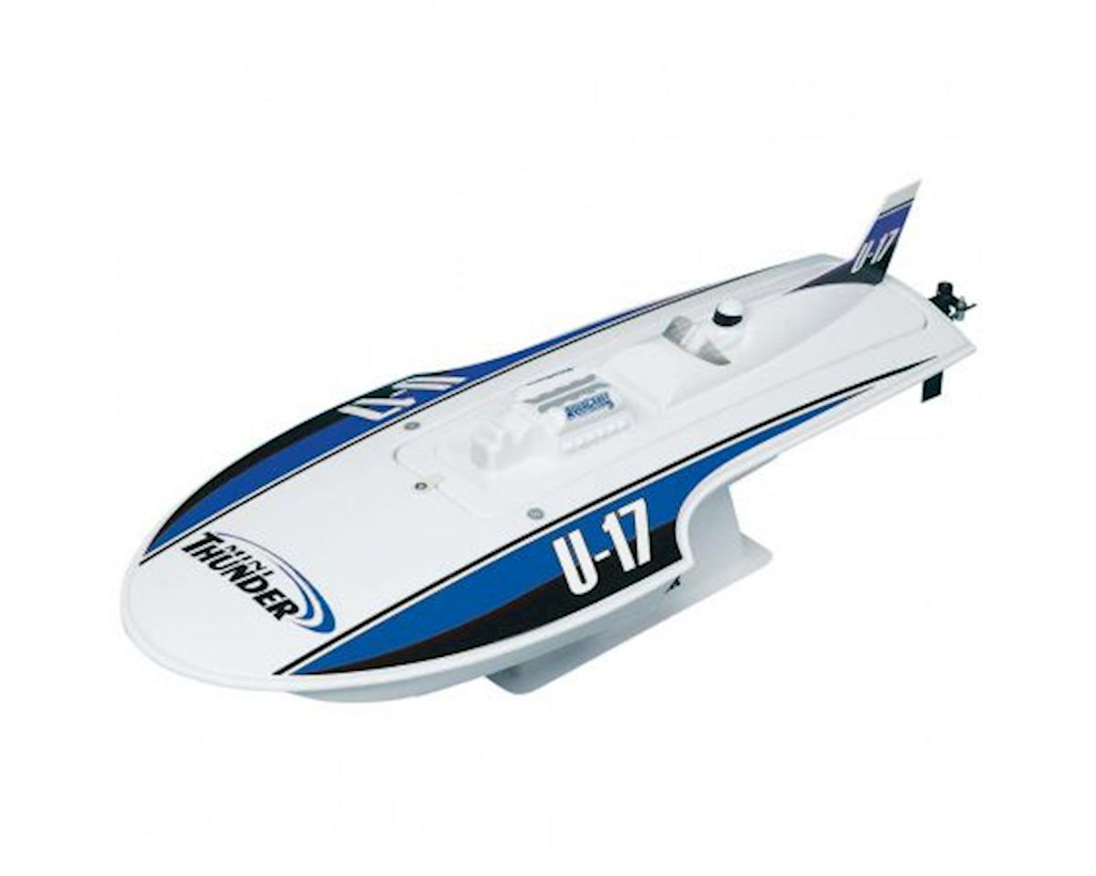 Mini Thunder Hydroplane RTR Boat w/2.4GHz Radio (Blue) by AquaCraft