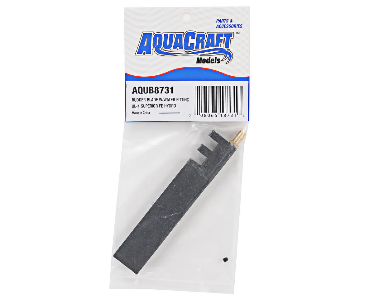 AquaCraft Rudder Blade w/Water Fitting