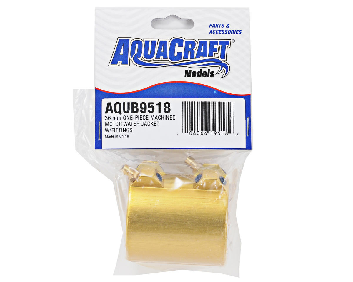 AquaCraft 36mm One-Piece Machined Motor Water Jacket w/Fittings