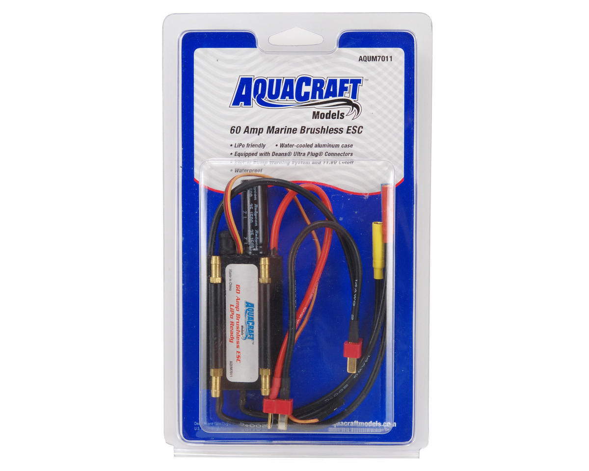 AquaCraft 60-Amp Brushless LiPo Ready Marine ESC