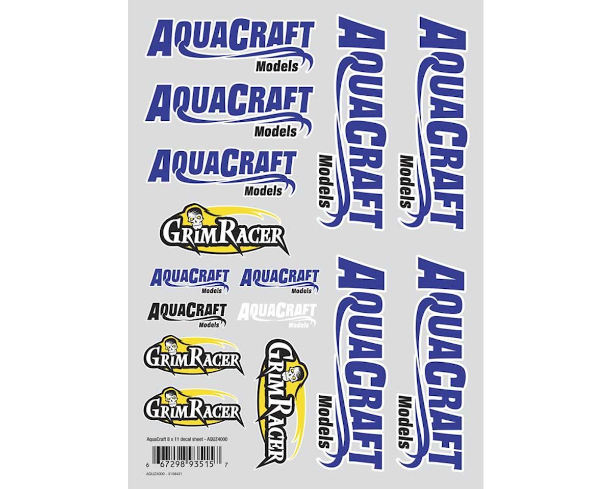 "AquaCraft Aquacraft/GrimRacer Die Cut Decal Sheet 8x11"""