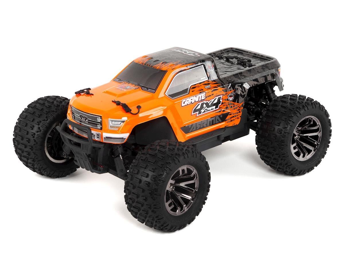 Arrma Granite 4x4 3s Blx 1 10 Rtr Brushless Monster Truck Orange Traxxas Stampede Vxl Scale 4wd Black Ara102666 Cars Trucks Hobbytown