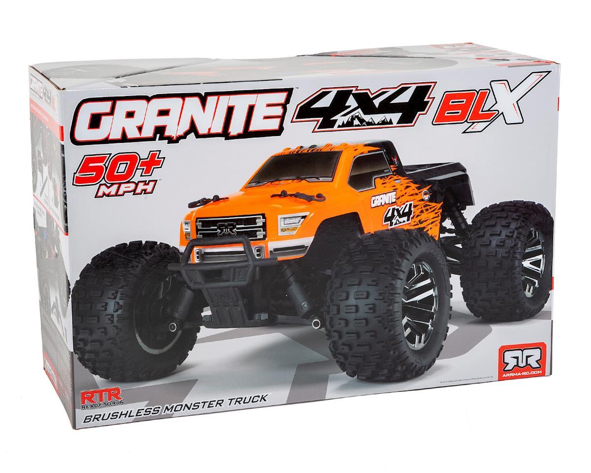 Arrma Granite 4X4 3S BLX 1/10 RTR Brushless Monster Truck (Orange/Black)