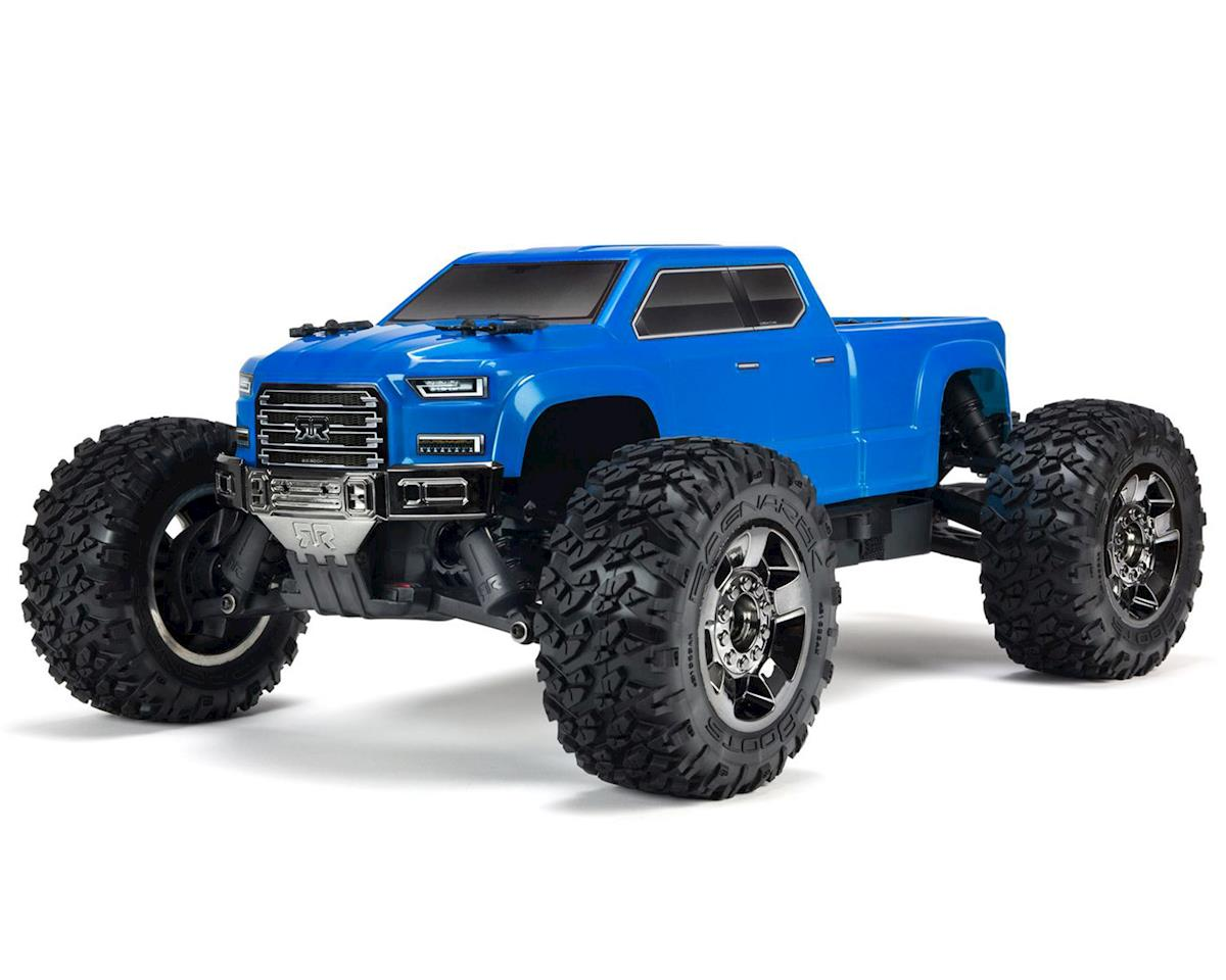 Arrma Big Rock Crew Cab 4X4 3S BLX 1/10 RTR Brushless Monster Truck (Blue)  [ARA102711] | Cars & Trucks