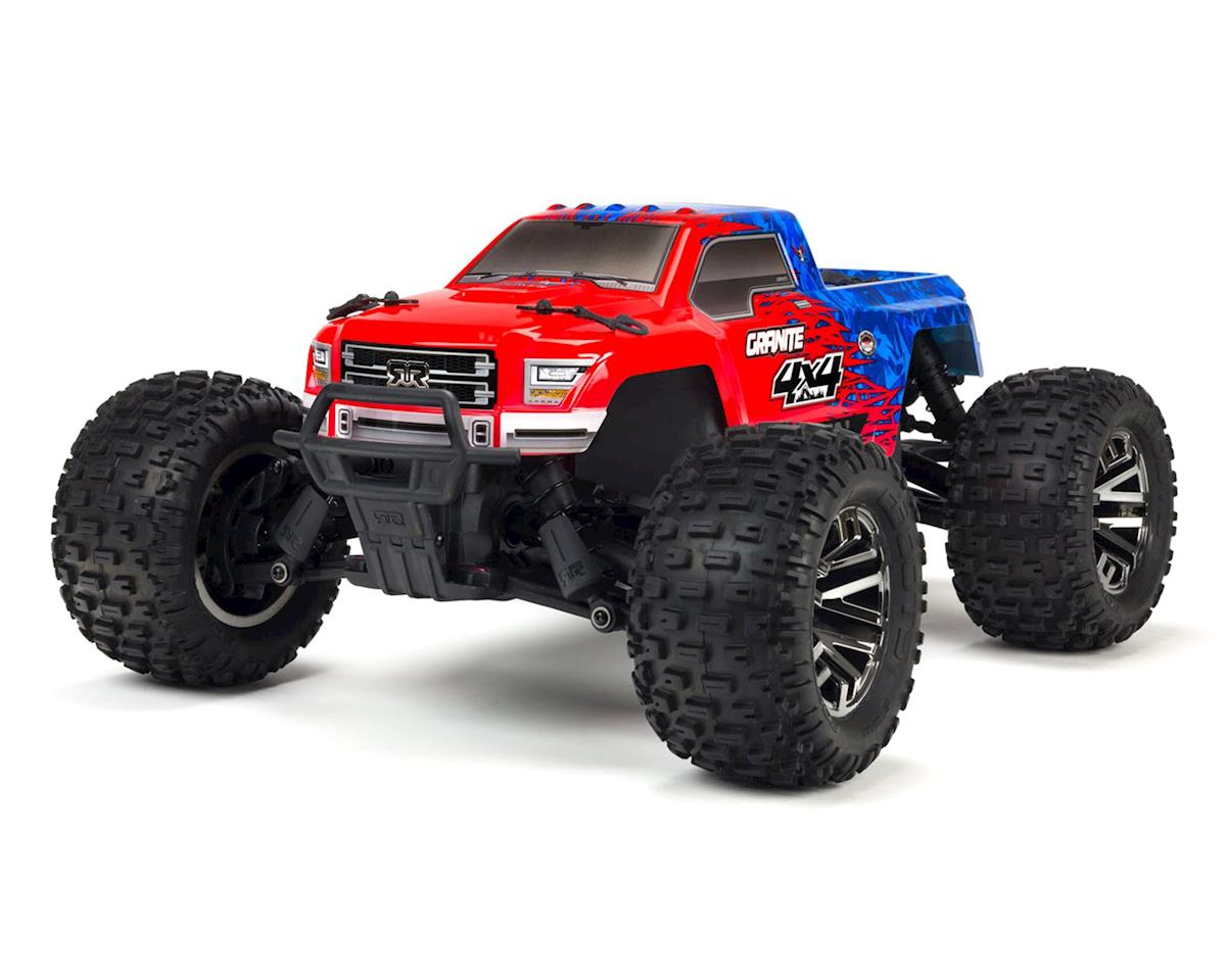 Arrma 1/10 Granite 4X4 3S BLX Brushless 4WD Monster Truck (Red/Blue)