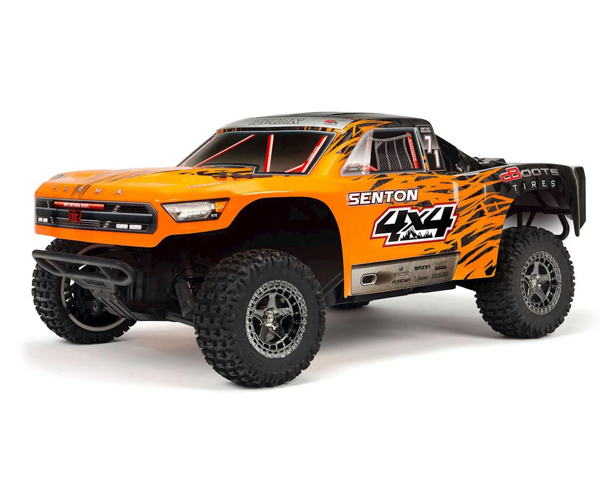 Arrma Senton 4X4 3S BLX 1/10 RTR Brushless Short Course Truck (Orange/Black)