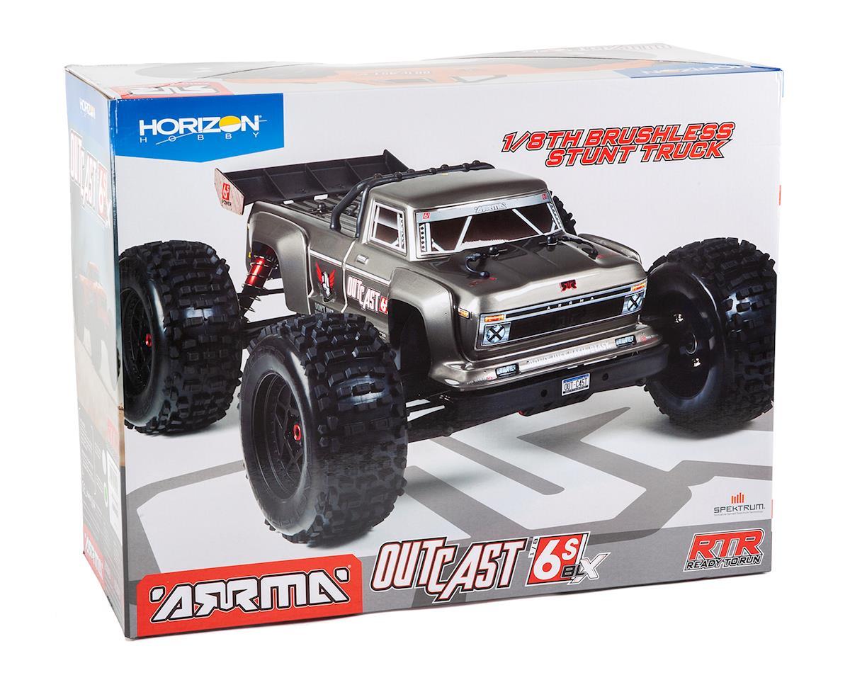 Arrma Outcast 6S BLX Brushless RTR Monster Stunt Truck (Silver) (2019 V4)