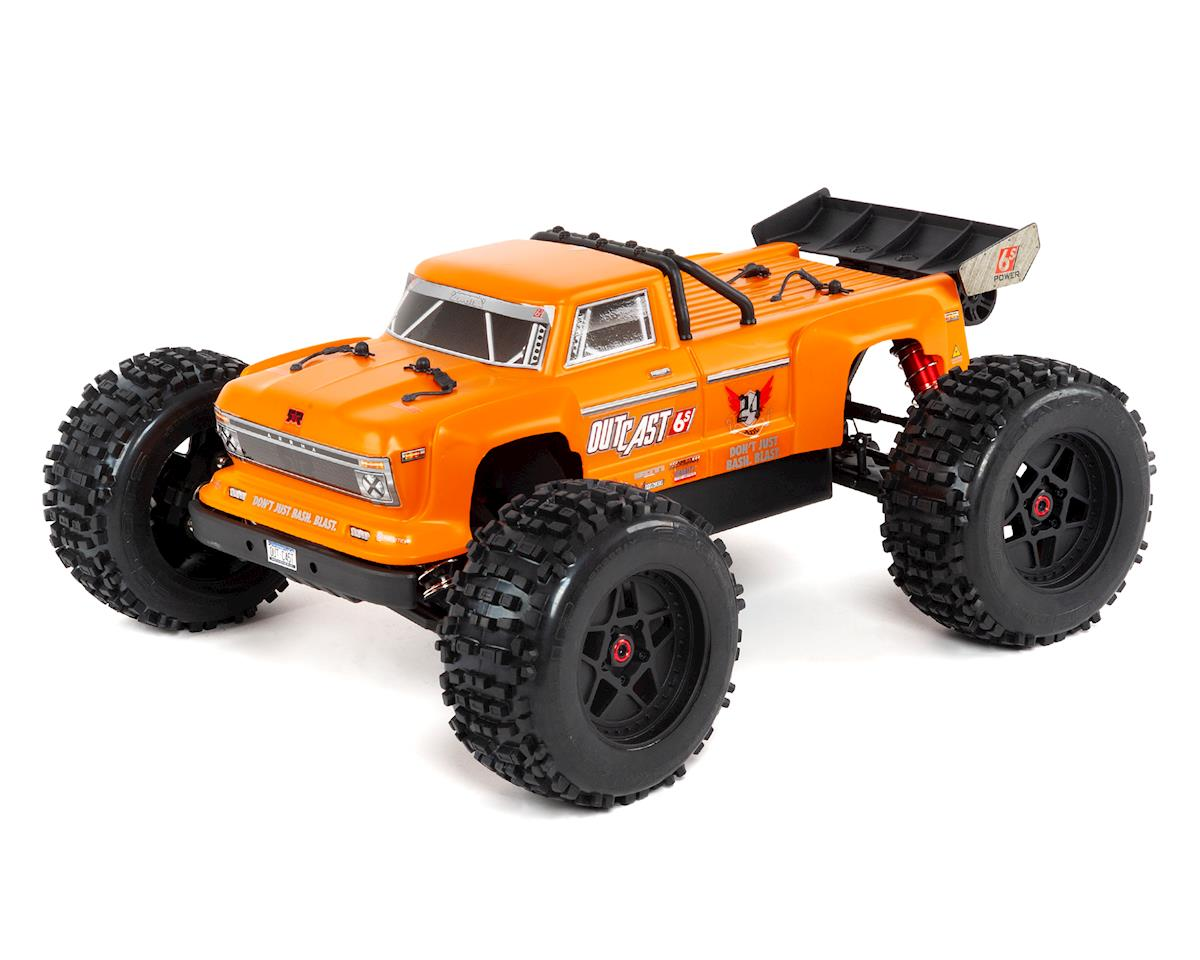 Arrma Outcast 6S BLX Brushless RTR Monster Stunt Truck (Orange) (2019 V4)