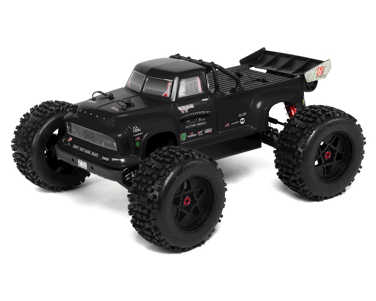 Arrma Notorious 6S BLX Brushless RTR 1/8 Monster Stunt Truck (Black) (V4)