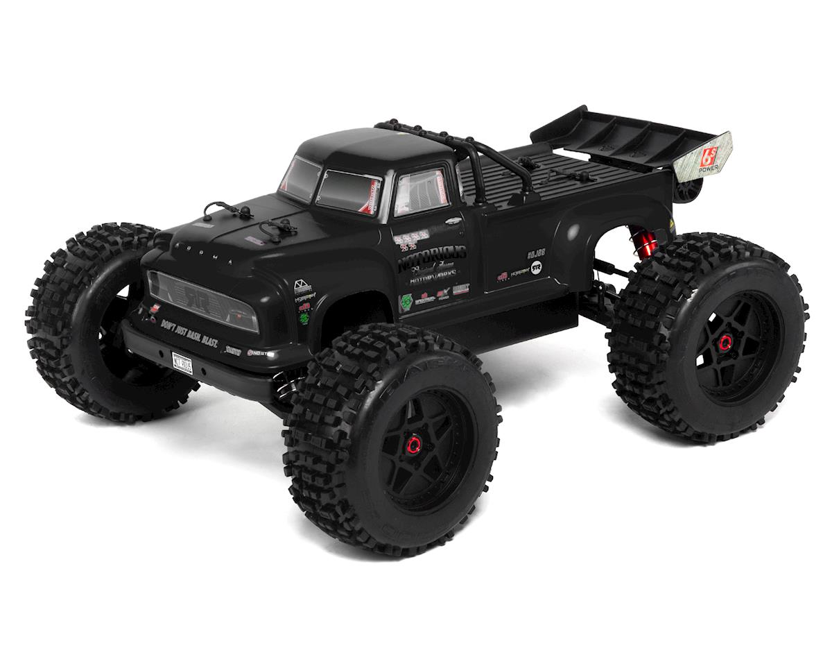 Arrma Notorious 6S BLX Brushless RTR 1/8 Monster Stunt Truck (Black) (2019 V4)