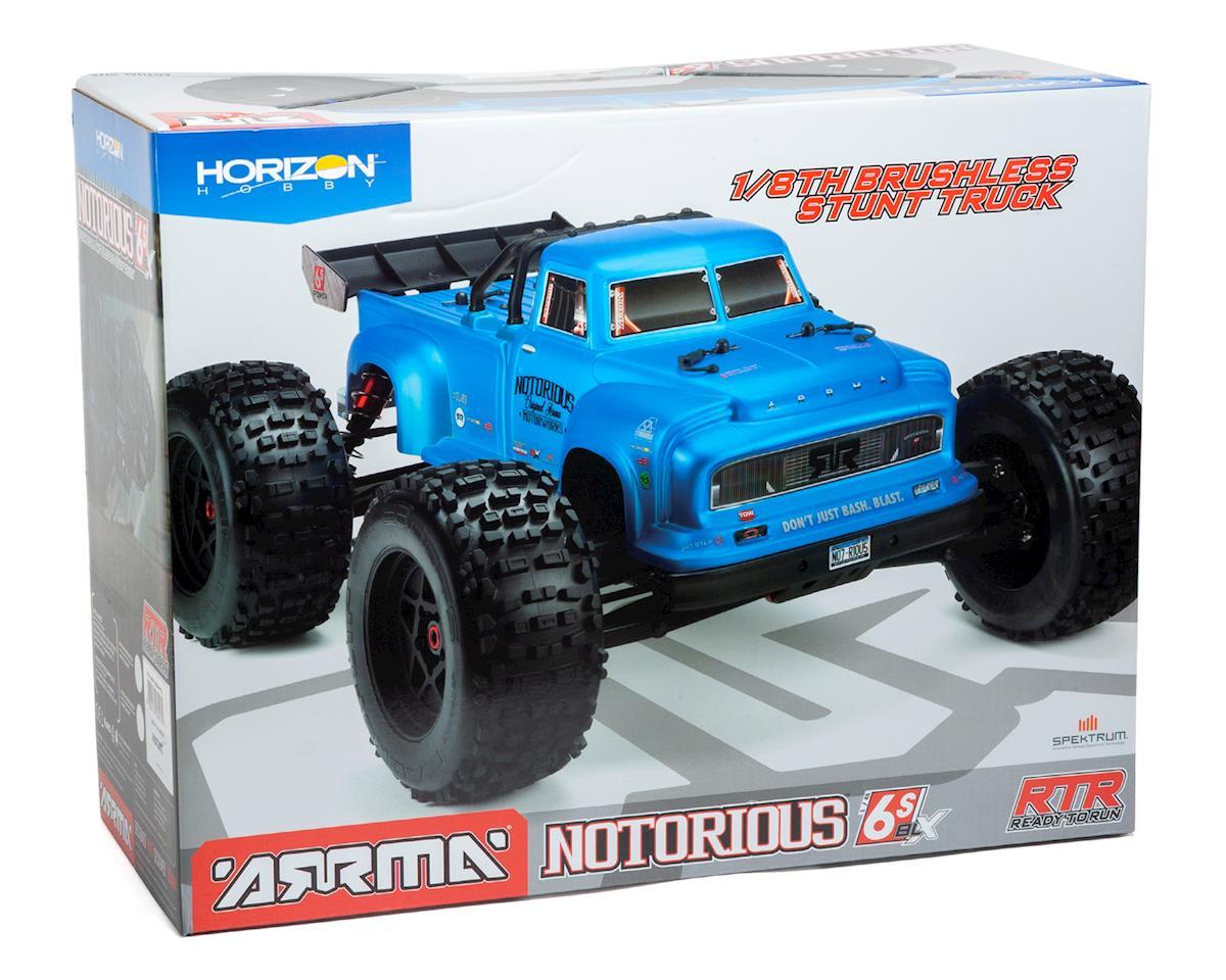 Image 7 for Arrma Notorious 6S BLX Brushless RTR 1/8 Monster Stunt Truck (Black) (V4)