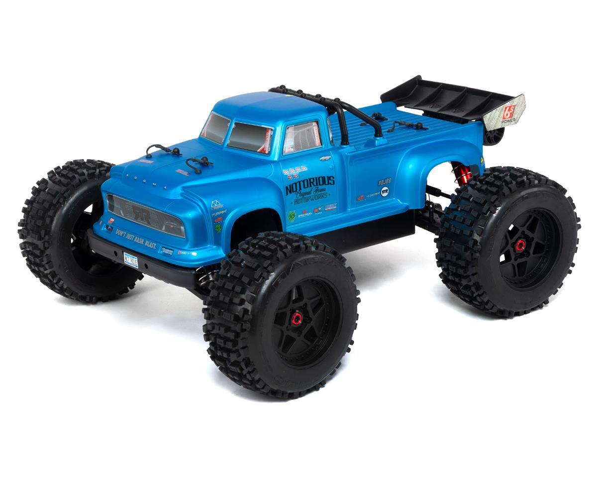 Arrma Notorious 6S BLX Brushless RTR 1/8 Monster Stunt Truck (Blue)