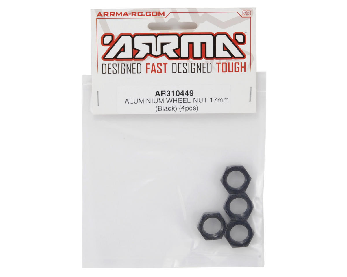 Arrma 17mm Aluminum Wheel Nut (Black) (4)