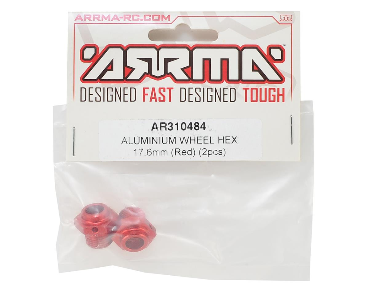 Arrma 17.6mm Aluminum Wheel Hex (Red) (2)