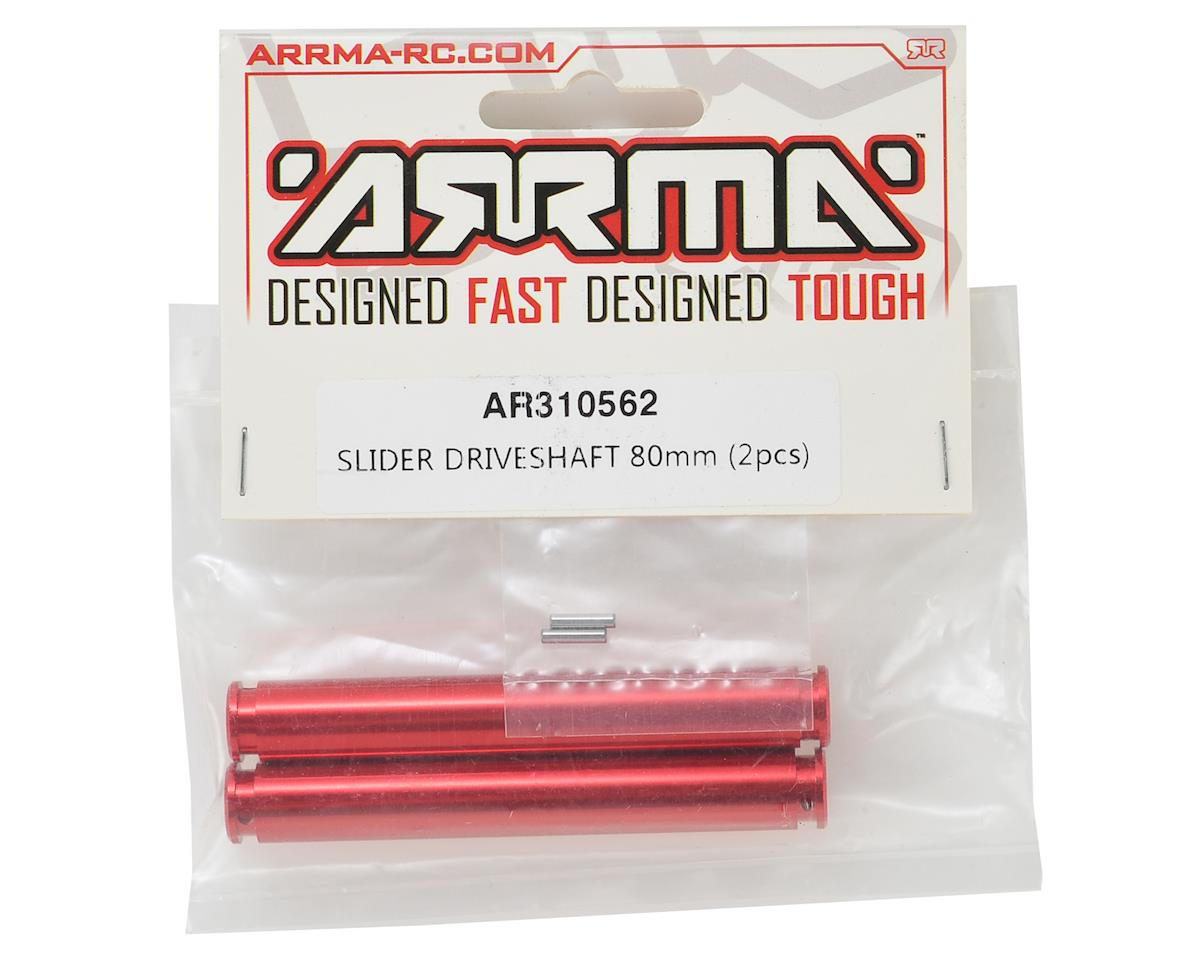 80mm Slider Driveshaft (Red) (2) by Arrma