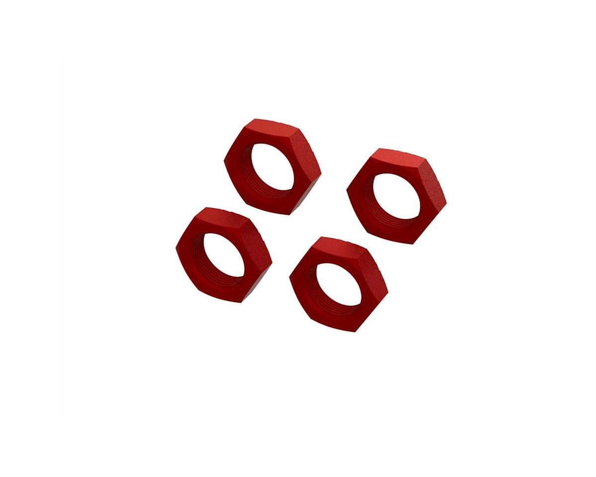 Arrma Kraton 8S BLX Aluminum 24mm Wheel Nut (Red) (4)