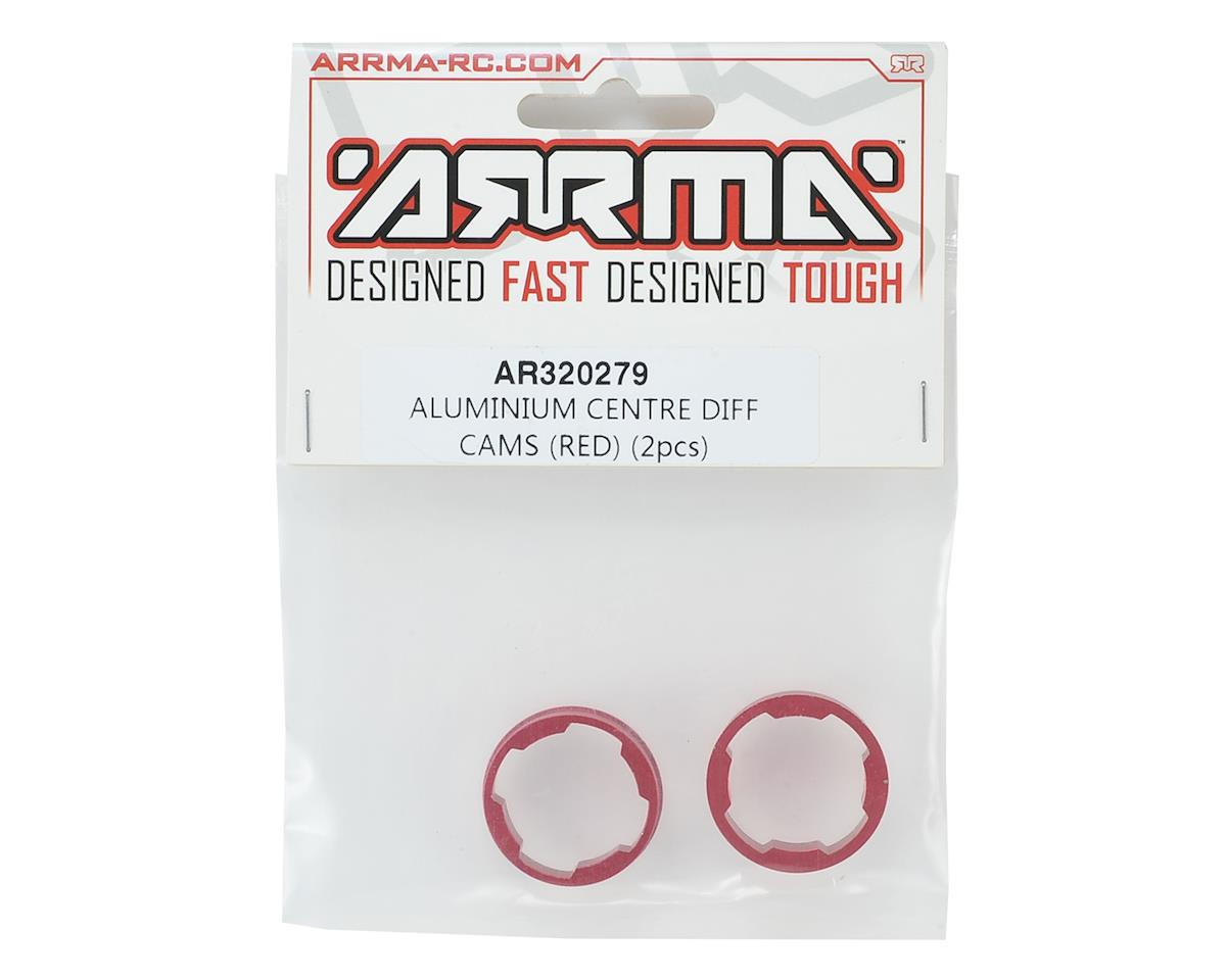 Aluminium Center Differential Cams (Red) (2) by Arrma