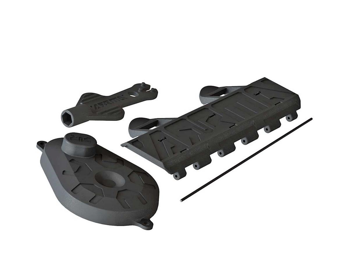 Arrma AR320448 Battery Door Gear Cover/Shock Tool Voltage
