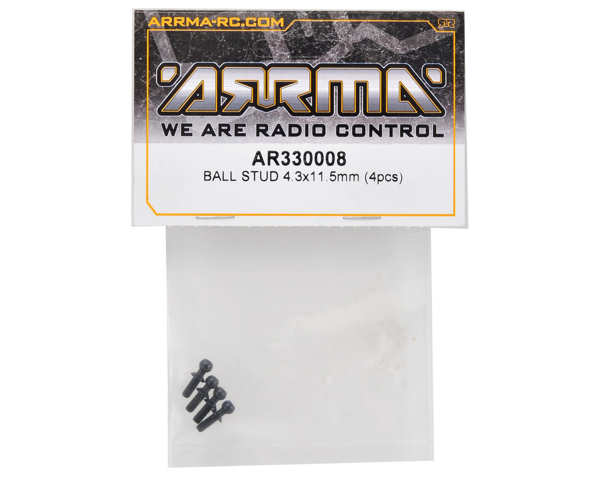 Arrma 4.3x11.5mm Ball Stud Set (4)