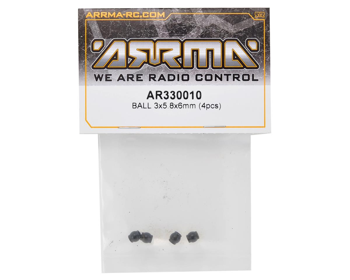 Arrma 3x5.8x6mm Suspension Ball Set (4)